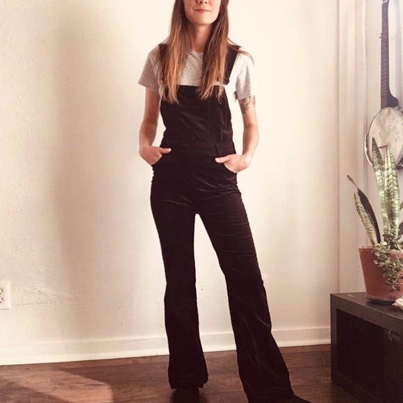 dee5cabed081 Anthropologie Pants - Pilcro   the Letterpress Velvet Overalls (Anthro)